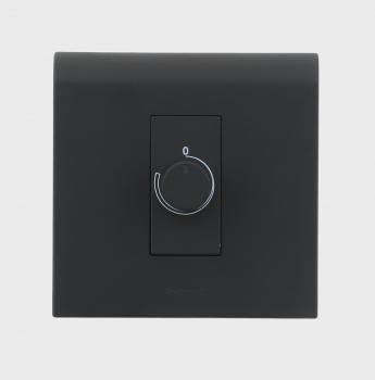 Myrius Black Rotary Dimmer 400 W 1 Module-1
